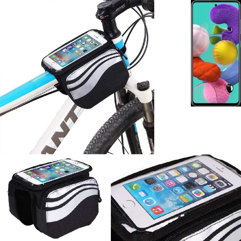 K-S-Trade® Bolso Funda Bicicleta para Samsung Galaxy A51, Teléfono ...