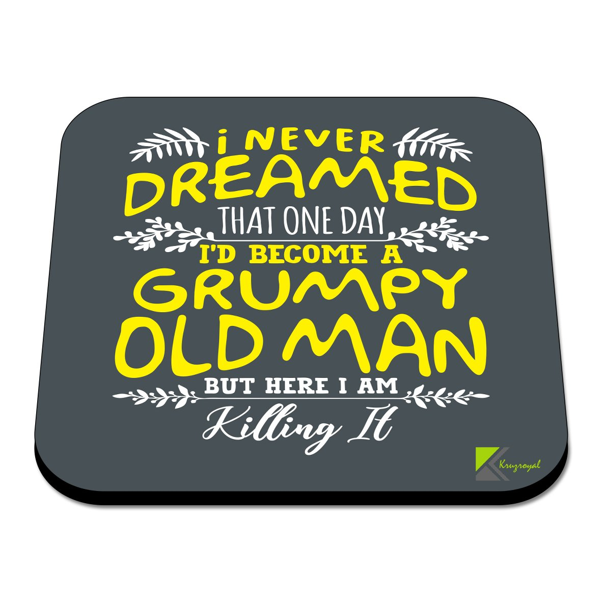 Novelty Funny Coffee Tea Drink Gift Glossy MDF Wooden Coaster CS560 Im Sorry did i roll My Eyes Out Loud