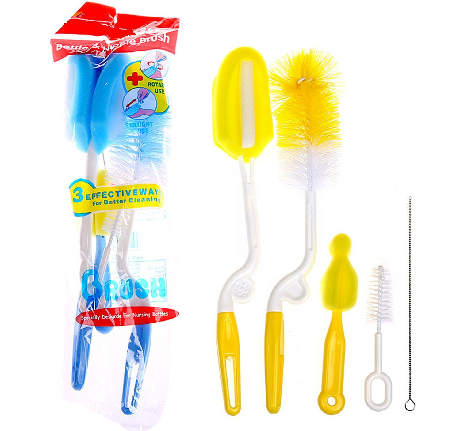Ladieshow Bottle Brush Cleaner and Straw Brush Glass Cup Brush with Straw Cleaner for Washing Baby Bottle, Water kettle, Mug, Wine Stemware bursh1