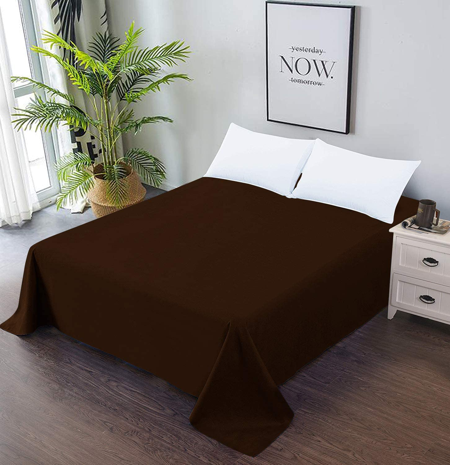 Twin Size Soft Comfortable Top Sheet Decorative Bedding 1 Piece ...