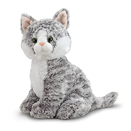 Amazon Com Melissa Doug Greycie Tabby Cat Stuffed Animal Melissa