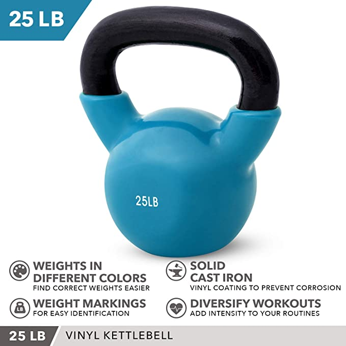 Miroddi Kettlebell Weights Solid Iron Kettlebells Vinyl Coated Exercise Kettlebell Set for Women Kettlebell Set for Home Gyms Core Kettle Bal Training Equipment Workout Free Weights for Ballistic