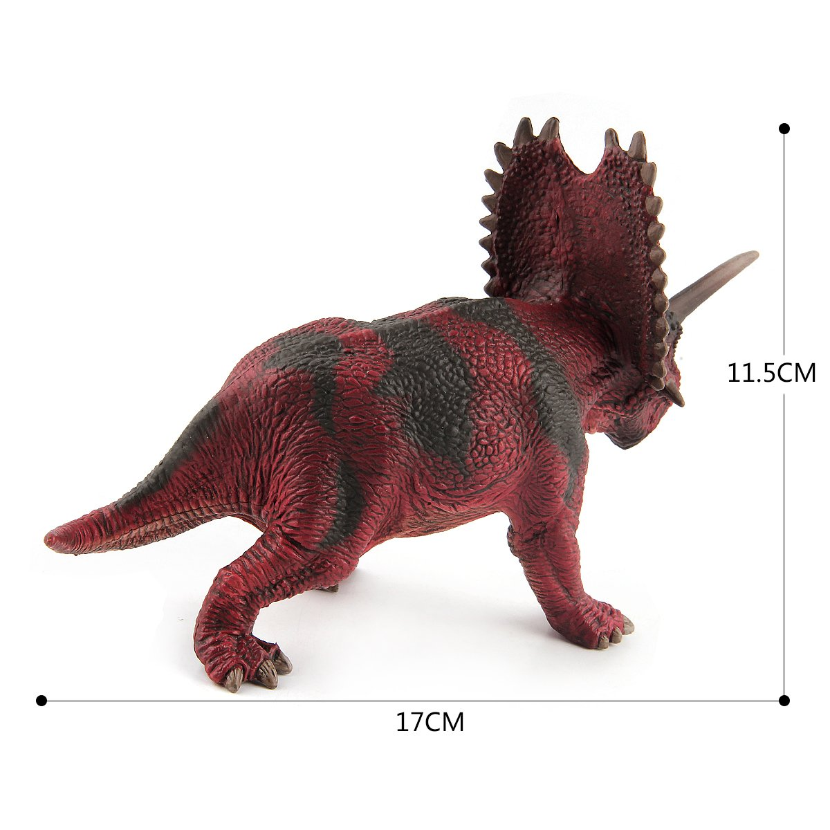 CEKtoys Dinosaur Figures Pentaceratops 7'' Realistic Detailed Dinosaur Toys For Kids Great Gifts and Party Favor