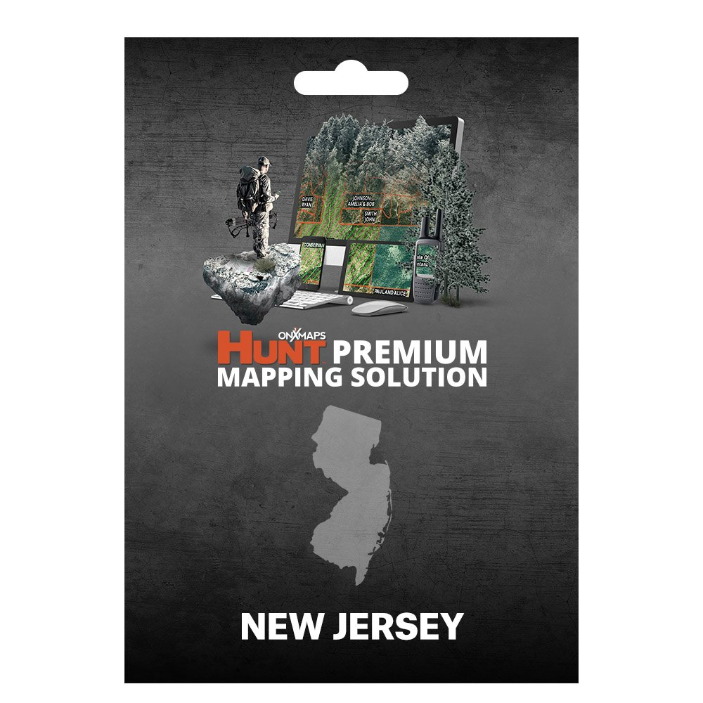 onXmaps HUNT New Jersey: Digital Hunting Map For Garmin GPS + Premium Membership For Smartphone and Computer - Color Coded Land Ownership - 24k Topo - Hunting Specific Data by onXmaps (Image #1)
