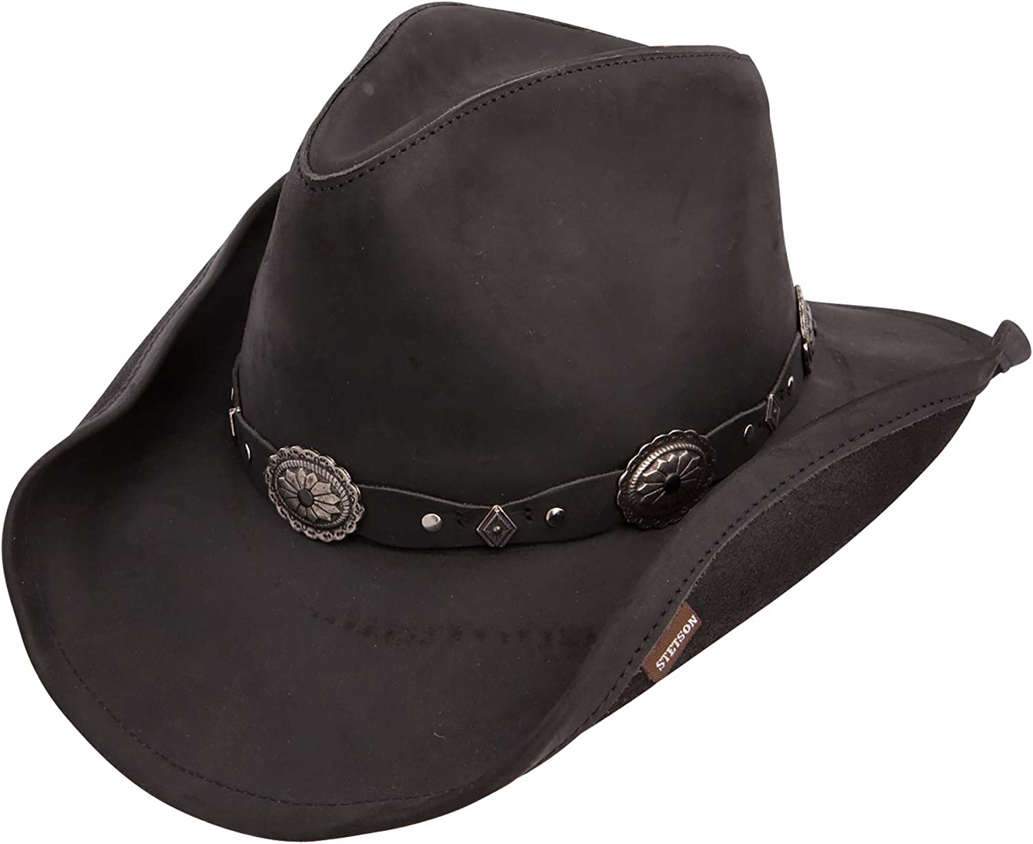 Stetson Roxbury Shapeable Leather Cowboy Western Hat