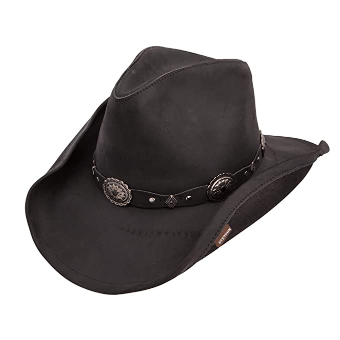 new styles release date: discount Stetson Roxbury Shapeable Leather Cowboy Western Hat
