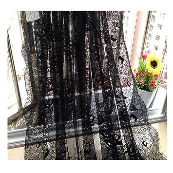 Negro elástica de encaje de encaje exquisito francés accesorios Tubo Vestido Ropa Falda costura tela 78.7