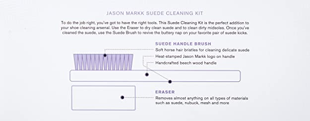 Eraser Beech Brush Jason Markk Suede Shoe Cleaning Kit