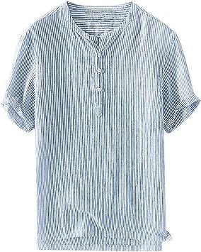 Sunnyuk Camisas de Hombres Blusa de Lino Chino clásico del Estilo Manga Corta para los Hombres: Amazon.es: Deportes y aire libre
