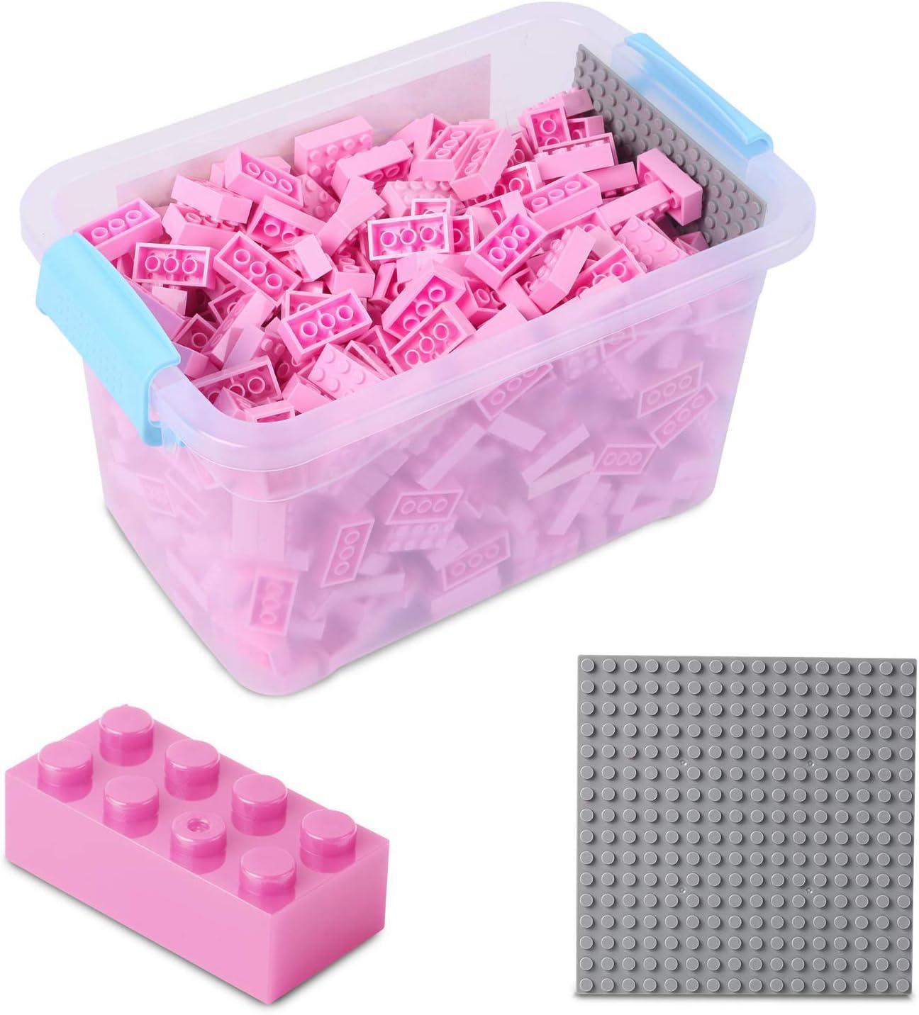 Katara-Juego De 520 Ladrillos Creativos En Caja Con Placa De Construcción 100% Compatibles Con Lego Classic, Sluban, Papimax, Q-bricks, color rosa (1827) , color/modelo surtido: Amazon.es: Juguetes y juegos