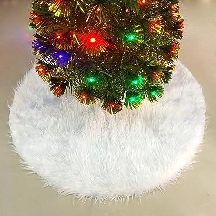 Albero Di Natale Bianco 90 Cm.Ieve Gonna Per Albero Di Natale Di Peluche Bianco 90 Cm 90 Cm