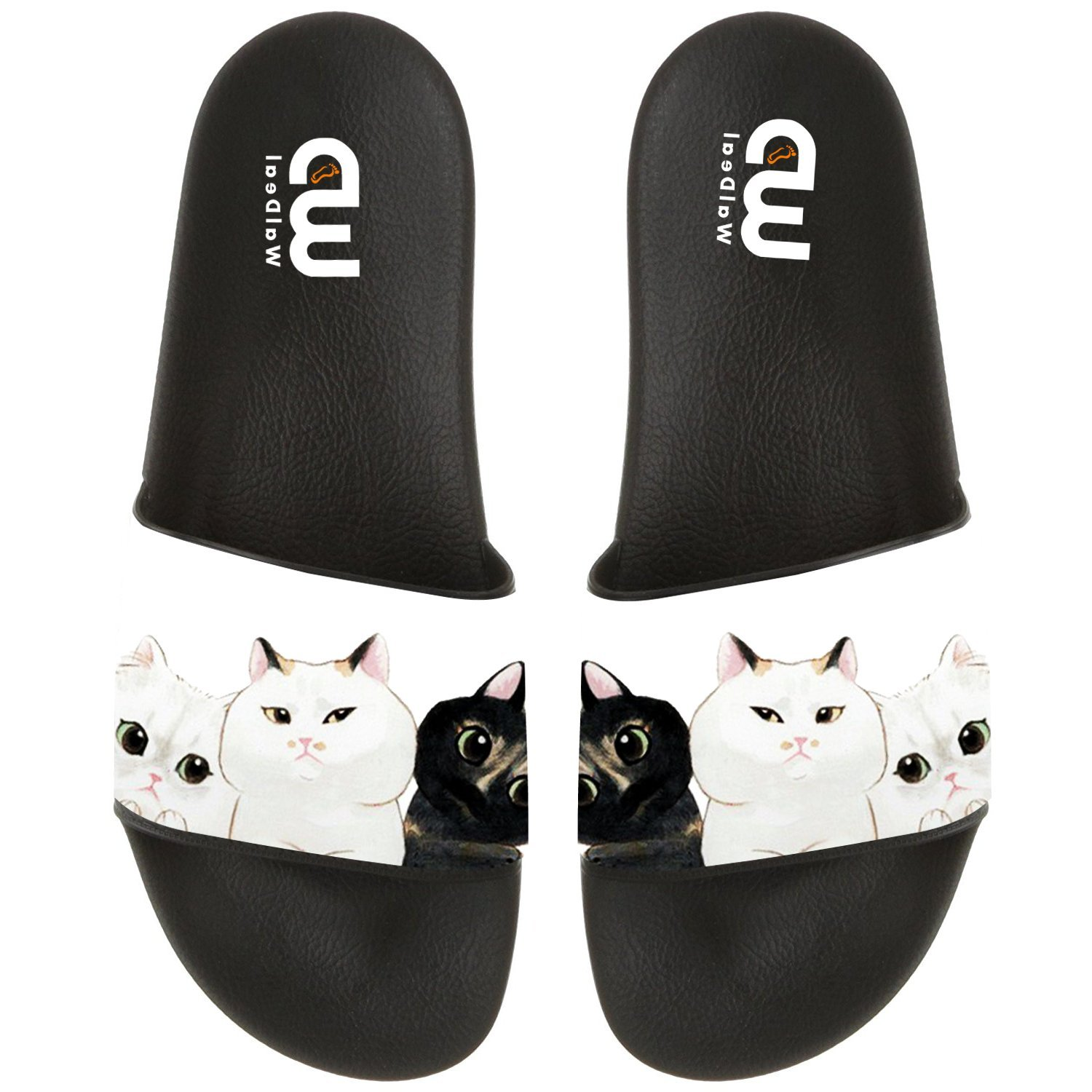 Cartoon Cute Cat Emoticon Summer Slide Slippers For Boy Girl Outdoor Beach Sandal Shoes size 12