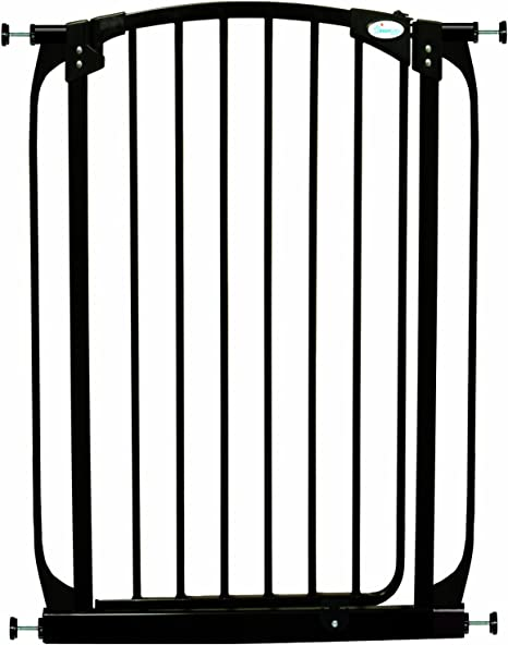 Black Dreambaby Chelsea Xtra-Tall Safety Gate Fits 71cm-80cm
