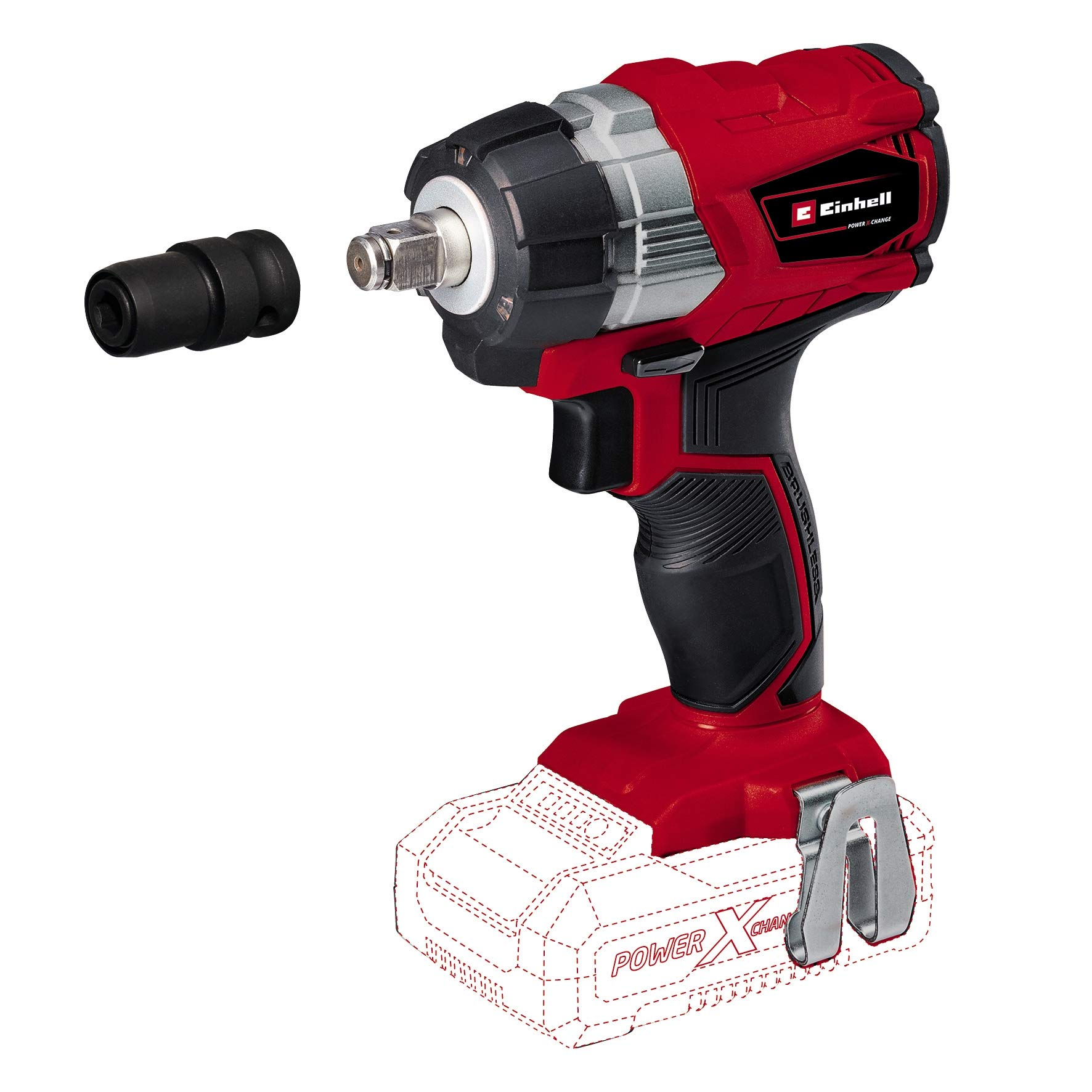 Einhell TE-CW 18 Li BL-Solo Power X-Change Cordless Impact Wrench - Supplied without Battery and Charger