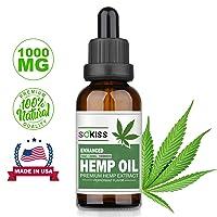 SoKiss Hemp Oil for Pain Relief (1000 MG), Premium Hemp Extract, 100% Natural Hemp...