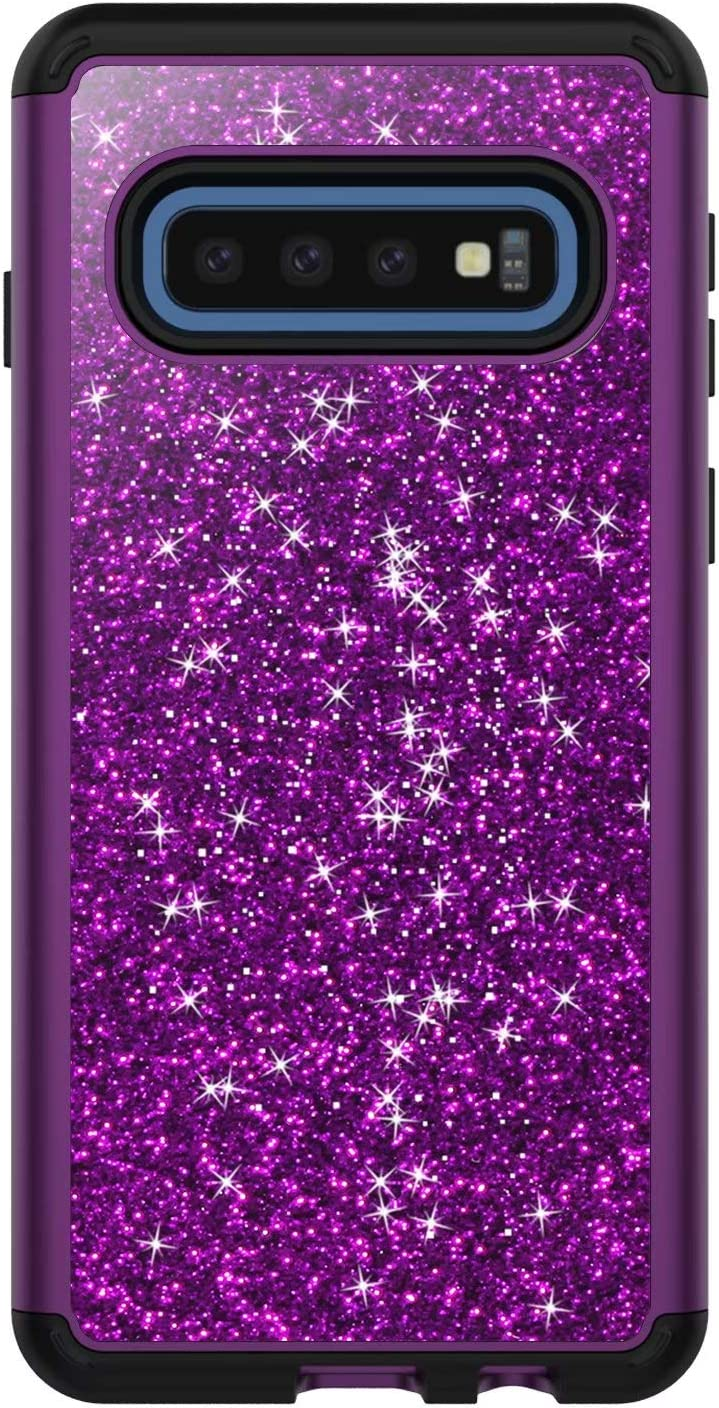 Adamarker Designed for Samsung Galaxy S10E Case Crystal Shiny Glitter Sparkly Bling Case Cute Girls Women Heavy Duty Cover