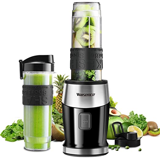 Licuadora Willsence, batidora para smoothies, 700 W, 2 botellas ...