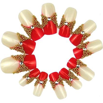 fashiongallery falsas puntas de uñas brillantes falsos clavos ...