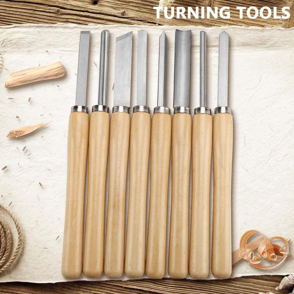 set Juego de cinceles para tornos de madera Herramientas para torneado Gubia de sesgo Inclinaci/ón 8pcs Herramientas de tallado en madera