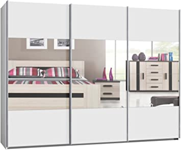 kleiderschrank wei mit spiegel. Black Bedroom Furniture Sets. Home Design Ideas
