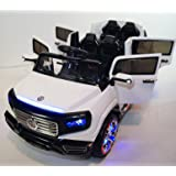 Big 2 Seats Kids 12V SUV Style Ride on Car with 4 Doors, Music, Lights, Remote