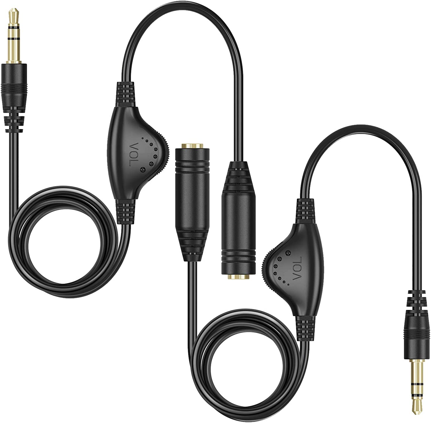 Cables Audio Cables 2 Packs 3.5mm Headphone Extension Cable PChero ...