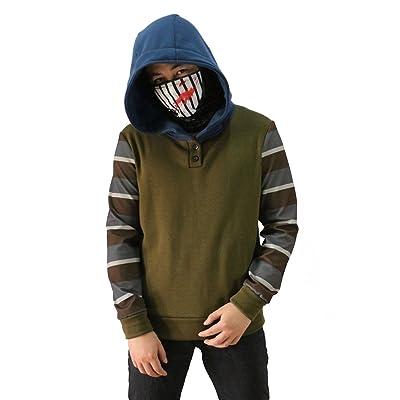 Long Charcoal Cosplay Hooded Zipper Jacket