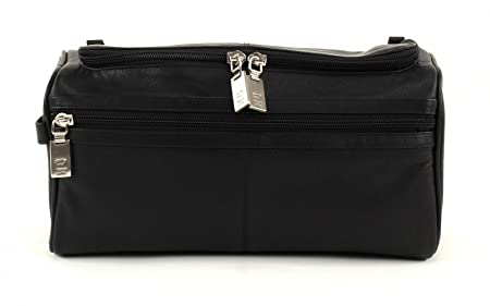 4340f25ede Image Unavailable. Image not available for. Colour  Braun Büffel 92997 Leather  Wash Bag Black