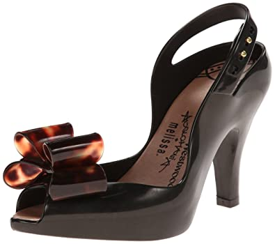 4f8e543206397 Melissa X Vivienne Women s Westwood Lady Dragon Tortoiseshell Bow Black  Size 5  Amazon.co.uk  Shoes   Bags