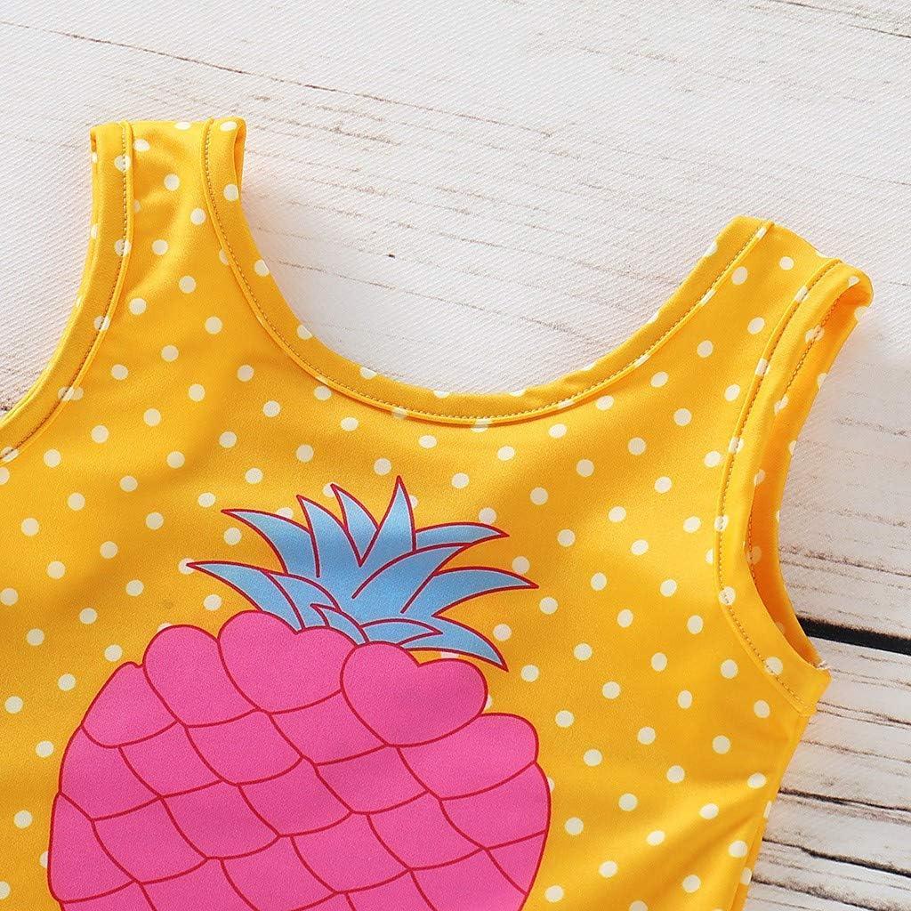 KASSD Kids Baby Girls Sleeveless Pineapple Print One Piece Beach Swimsuit Summer Romper
