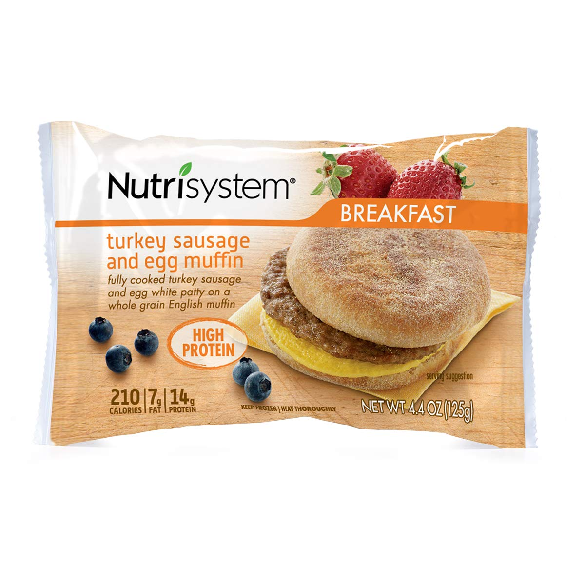 Nutrisystem® Turkey Sausage and Egg Muffins, 22ct. Frozen Breakfast Sandwiches to Support Healthy Weight Loss