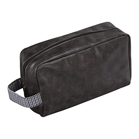 Jacob Jones Grey Washbag With Grey Checker Cotton Trim Herren-accessoires Geldbörsen & Etuis