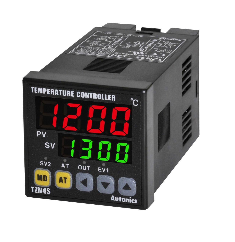 Autonics TZN4S-14C PID Temp Control, 1/16 DIN, Digital, Current Output, 1 Alarm Output, 100-240 VAC by Autonics USA, Inc