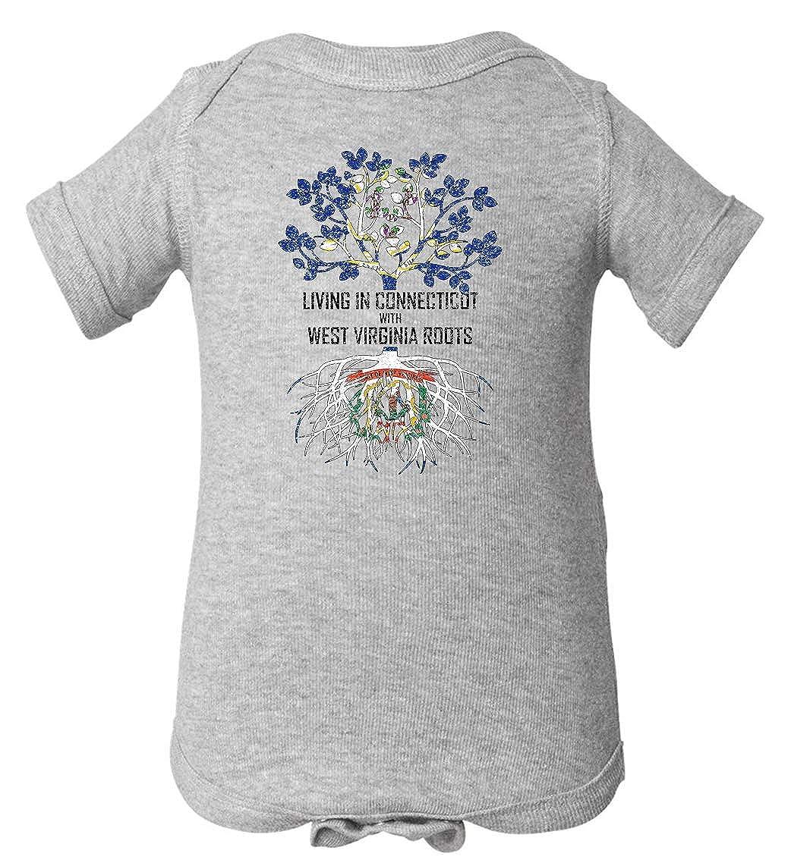 Tenacitee Babys Living in Connecticut West Virginia Roots Shirt