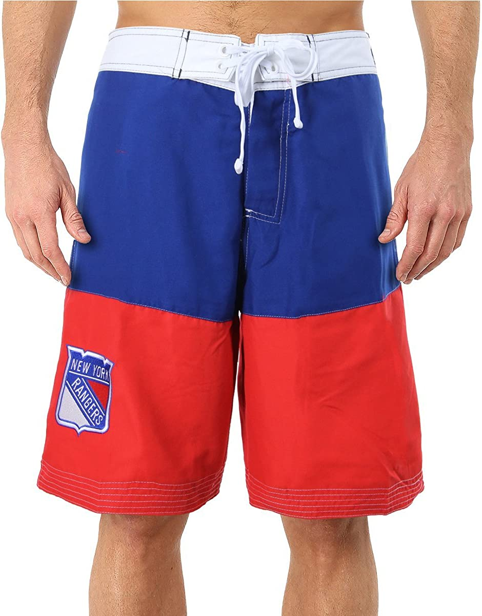 NHL Mens 2-Tone Colorblock Swimming Boardshort