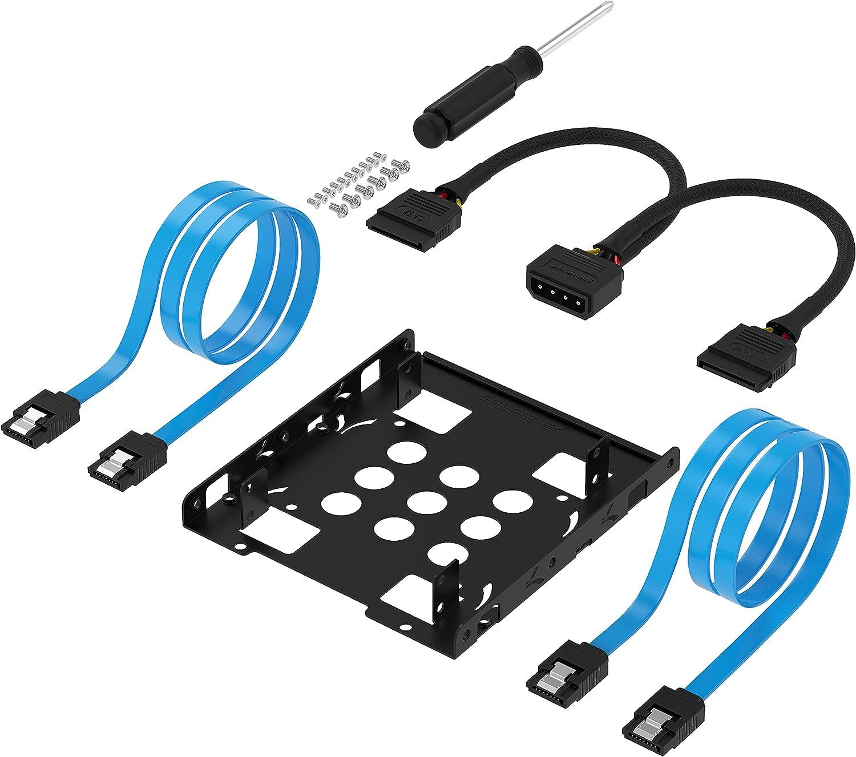 Adaptador SSD SABRENT 3.5 a 2 x SSD con cables y tornillos