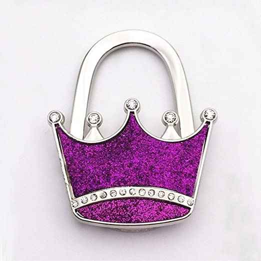 WillBer Bolso Plegable Metal Crown Shap Bolso Monedero Gancho ...