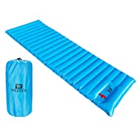 WACOOL Ultralight Inflatable Sleeping Pad Mat Air Mattress - Ultra-Compact for Backpacking, Camping, Travel, Super Comfortable Air-Support Cells Design