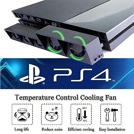Amazon com: PS4 Turbo Cooling Fan – ElecGear External USB Cooler