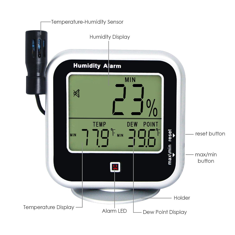 Indoor Digital Hygrometer 14 to 140 F
