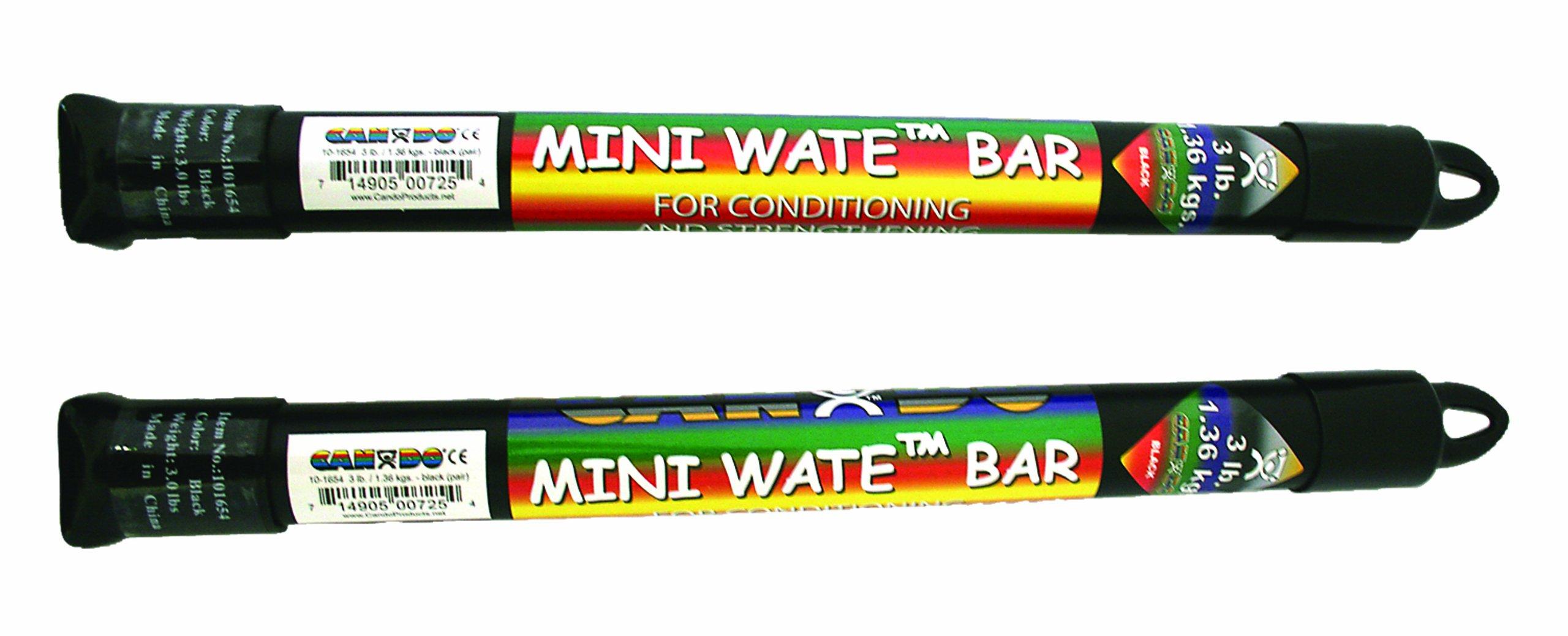 Cando 10-1654 Mini Wate Bar Pair, 14'' Length, 3 lbs Weight