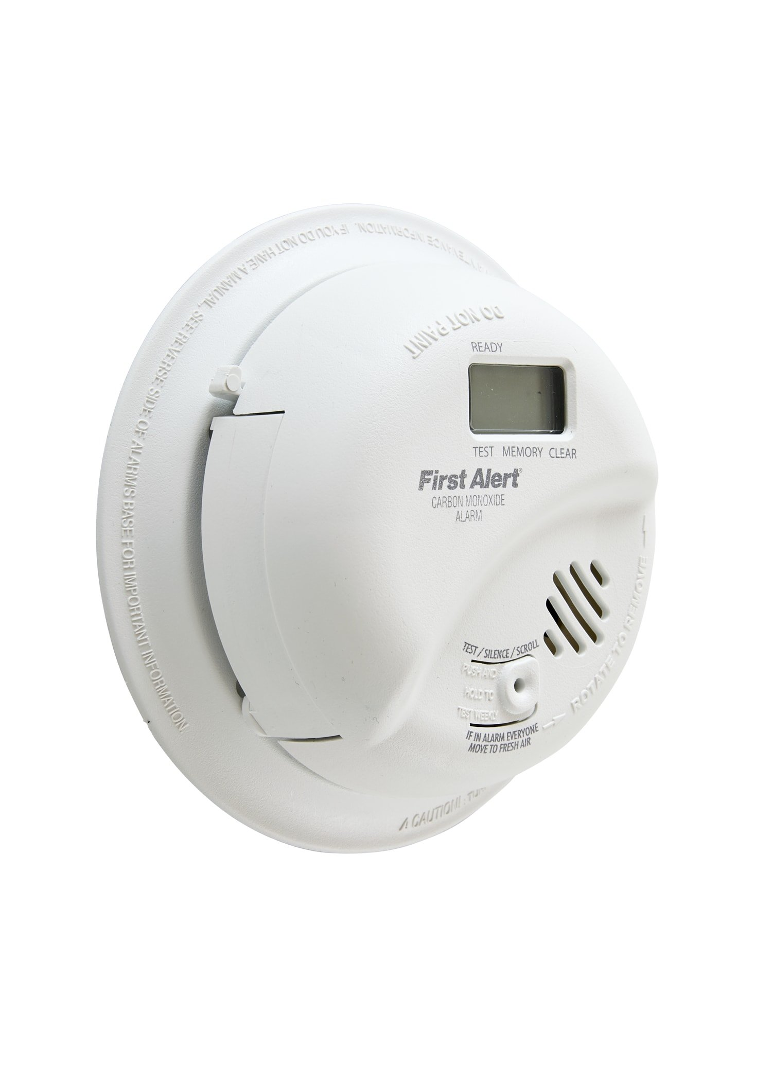 First Alert CO5120PDBN Hardwired Carbon Monoxide Alarm with Battery Backup and Digital Display