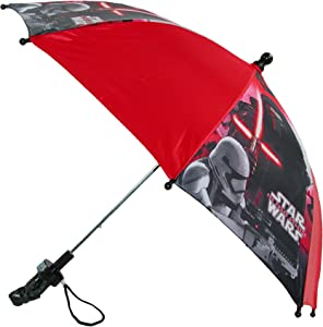 Disney Kids' Star Wars Stick Umbrella with Character Handle, Red