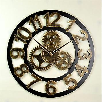 Hollow Gear Relojes Retro Bar / Café / reloj de pared / mesa de pared creativa , a , 50cm: Amazon.es: Hogar