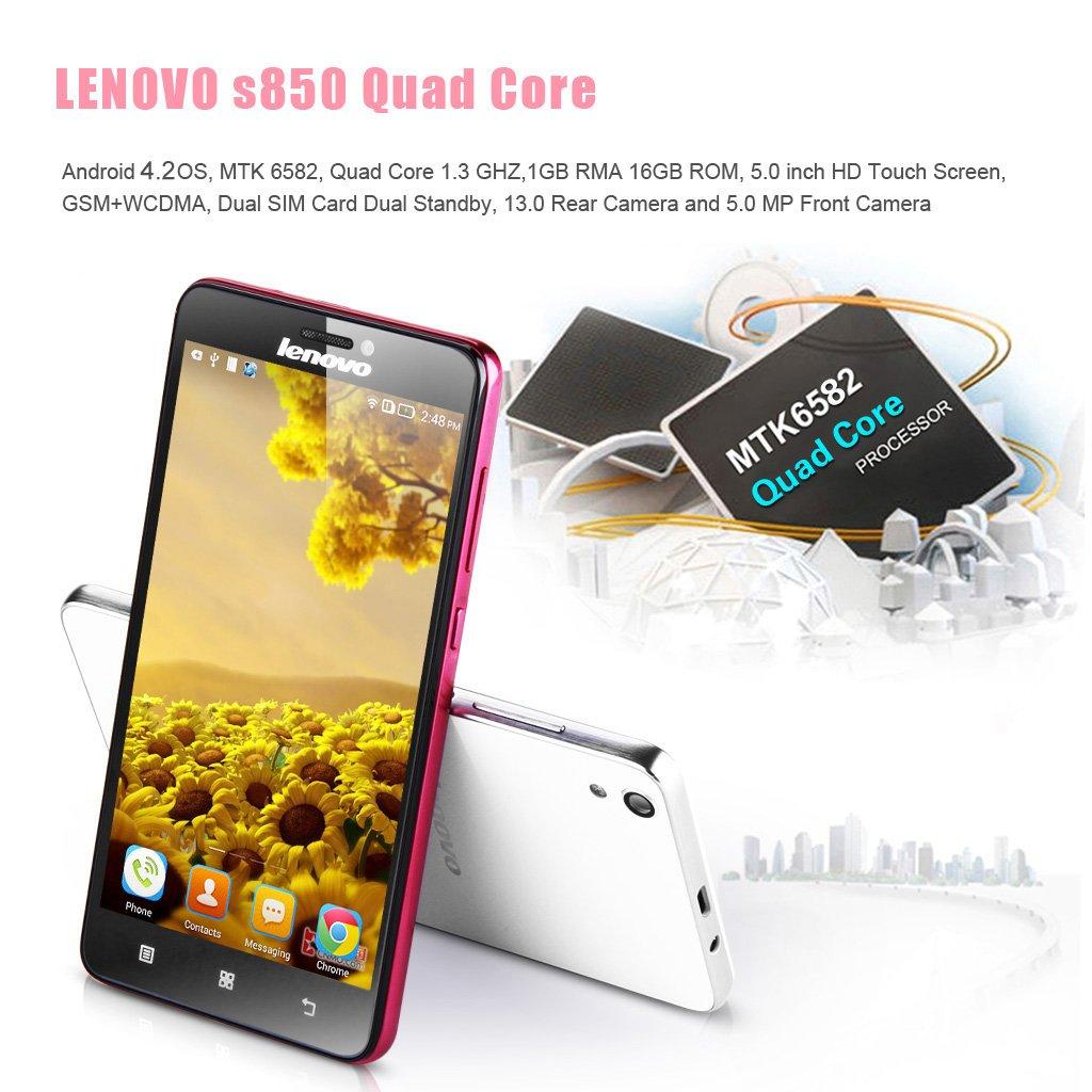 Lenovo S850 Quad Core 3g Smartphone Dbloqu 5 Rose Android 42 Quadcore Processor Mtk6582 13ghz 1go 16go Camras 130mp 50 Mp Combatible Avec Orange Sfr Bouygues Free