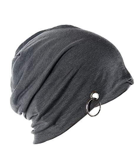 06c654109b5 Michelangelo Men s Cotton Slouchy Beanie and Skull RING Cap (Dark Grey)   Amazon.in  Clothing   Accessories