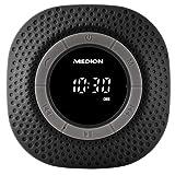 MEDION LIFE E66554 Duschradio mit Bluetooth, PLL UKW, eingebauter Akku, IPX7, 20 Watt, schwarz