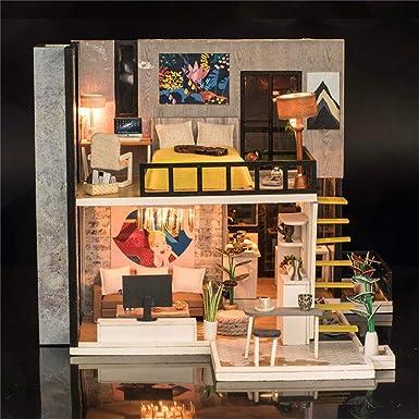 Kasien regalos de Navidad, madera DIY casa de muñecas 3D ...
