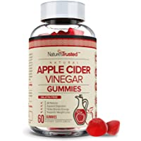 """All Natural Apple Cider Vinegar Gummies - Organic, Vegan, Gluten Free, Non-GMO, with""""The Mother"""" - Gummy Alternative to ACV Capsules, Pills, Drinks - Daily Detox, Cleanse Support, Immunity Booster"""