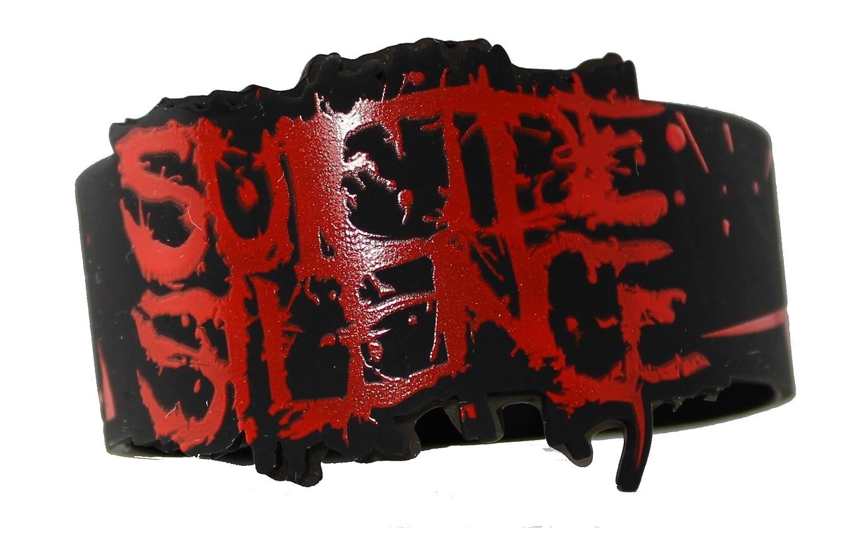 wristband Suicide Silence logo diecut gummi armband